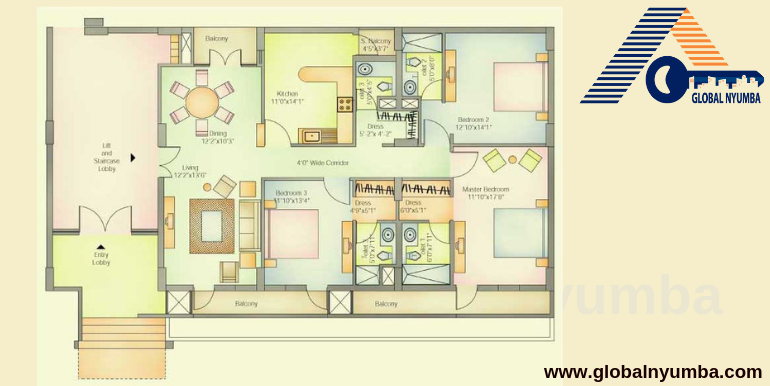 Vatika City, Sector 49, Gurugram - Floor Plan