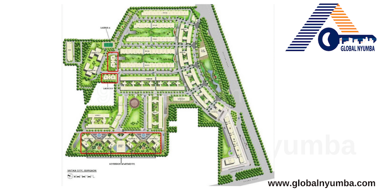 Vatika City, Sector 49, Gurugram - Master Plan