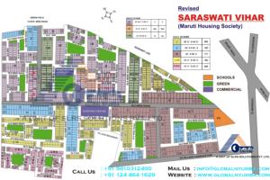 saraswati-vihar-map