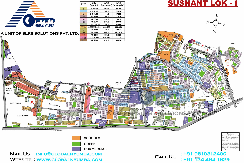 sushant-lok-1-map