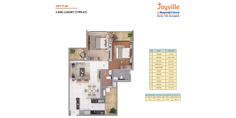 Joyville Gurgaon - Floor Plan 1