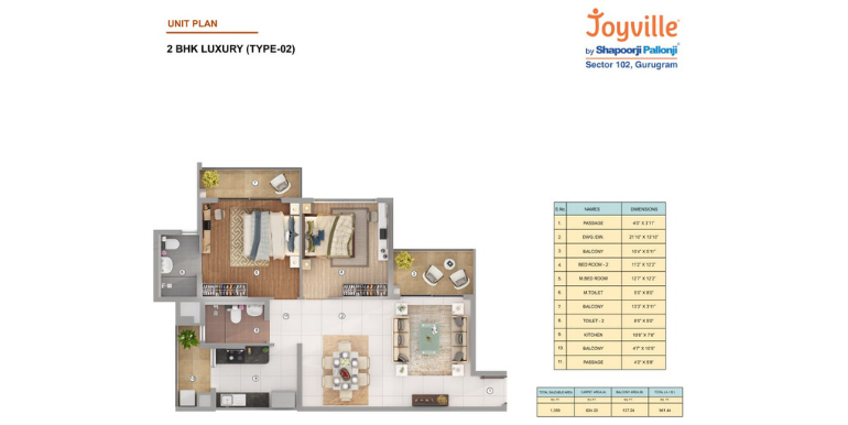 Joyville Gurgaon - Floor Plan 2
