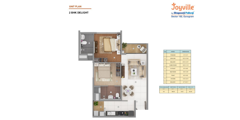 Joyville Gurgaon - Floor Plan 3