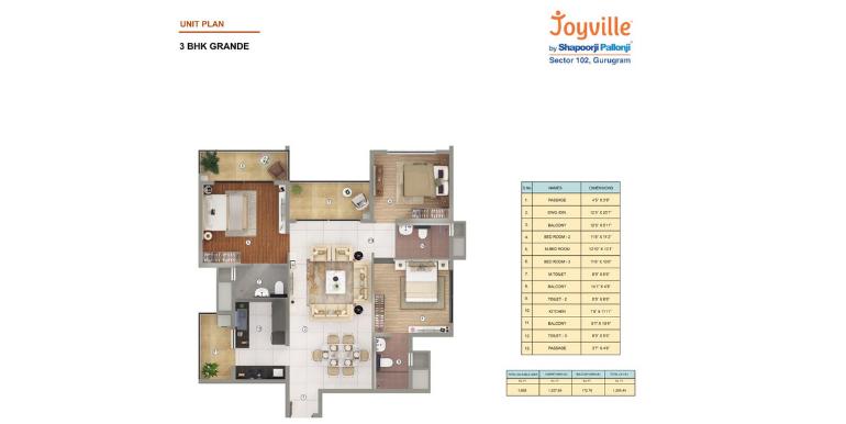 Joyville Gurgaon - Floor Plan 4