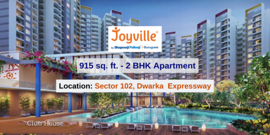 915 Sq. Ft./ 2 BHK Apartment In Joyville Gurgaon, Sector 102