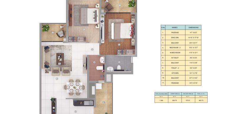 2 bhk apartment in Joyville