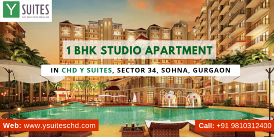 1 BHK Studio Apartment in CHD Y Suites, Sector 34, Sohna, Gurgaon