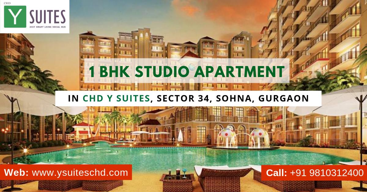 1 BHK Studio Apartment in CHD Y Suites, Sector 34, Sohna, Gurgaon