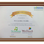 Certificate Of Appreciation The Experion Awarded Global Nyumba