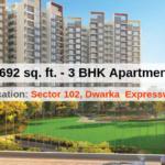 1692 Sq.Ft. 3 BHK Apartment In Joyville Gurgaon
