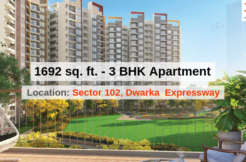 1692 Sq.Ft. 3 BHK Apartment In Joyville Gurgaon