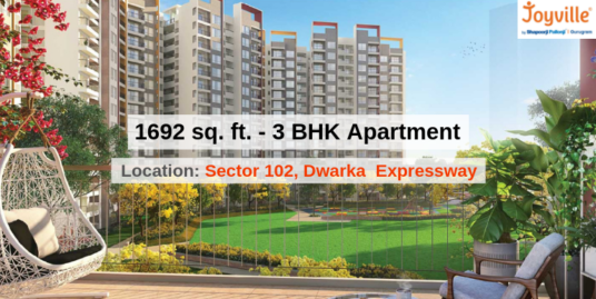 1692 Sq.Ft. 3 BHK Apartment In Joyville Gurgaon Sector 102, Dwarka Expressway