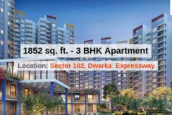 1852 Sq.Ft. 3 BHK Apartment In Joyville Gurgaon