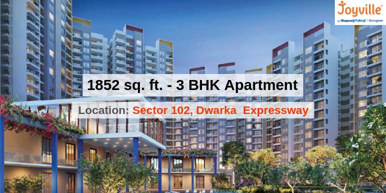 1852 Sq.Ft. 3 BHK Apartment In Joyville Gurgaon Sector 102, Dwarka Expressway