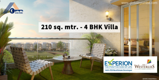 210 sq. mtr. – 4 BHK Villa in Experion The Westerlies, Sector 108, Dwarka Expressway, Gurgaon