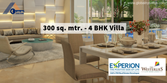 300 Sq. Mtr. – 5 BHK Villa In Experion The Westerlies, Sector 108, Dwarka Expressway, Gurgaon